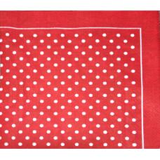 Салфетка Белый горошек на красном (946)