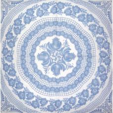 Салфетка Голубой цветочный узор (947)