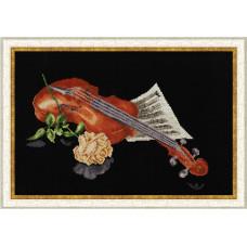 Набор для вышивания крестиком Золотое руно Музыкальный этюд (СЖ-018)