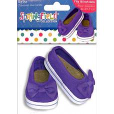 Парусиновые туфли фиолетовые для кукол (3923)