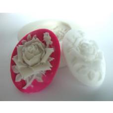 Молд силиконовый Камея роза (55)