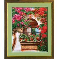 Набор для вышивания бисером Чарівна мить Цветы на балконе (Б-563)