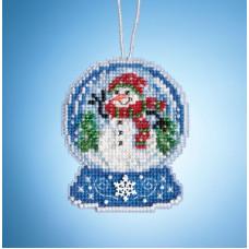Набор для вышивания Mill Hill Шар со снеговиком (MH161933)