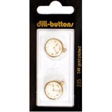 Пуговицы Часы, 2 шт. (DIL225)