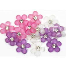 Набор пуговиц-украшений Искрящиеся цветы (JJB6592)