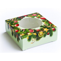 Коробка Рождественский венок