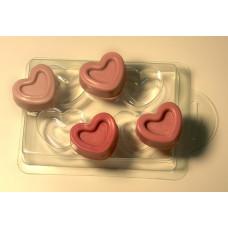 Форма для мыла 4 сердечка