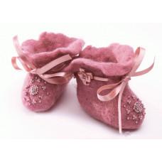 Набор для валяния Розовые пинетки (В-34)