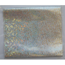 Фольга метал.на плёнке голографич.(точки)СЕРЕБРО, шир 10см (ЕВ-Ф-С-Г-10R)
