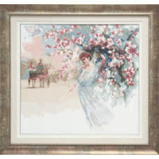 Набор для вышивания крестиком Чарівна мить Девушка в белом (А-167)