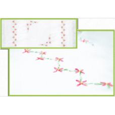 Набор для вышивки лентами Чарівна мить Салфетка Пеларгония (Л-013)