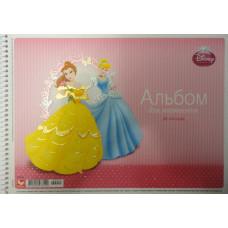 Альбом для рисования Принцессы, с глитером (А-5)