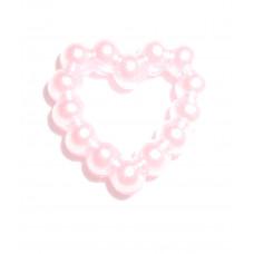 Пряжка Сердечко, бледно-розовая