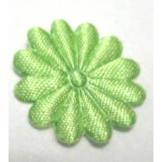 Тканевый цветочек салатовый