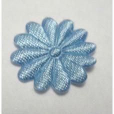 Тканевый цветочек голубой