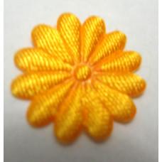 Тканевый цветочек желто-горячий
