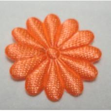 Тканевый цветочек мандариновый