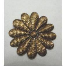 Тканевый цветочек коричневый