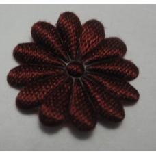 Тканевый цветочек бордовый