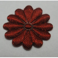 Тканевый цветочек вишневый