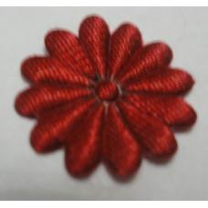 Тканевый цветочек красный