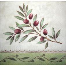 Салфетка Ветка черной оливы (маленькая)(1139)