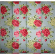 Салфетка-платочек Английские розы на голубом фоне (1158)