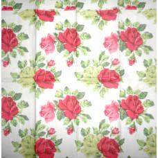 Салфетка-платочек Английские розы на белом фоне (1159)