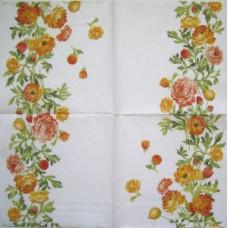 Салфетка Полоски роз на белом фоне (1211)