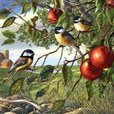 Паззл Синицы и яблоки (28450)