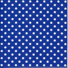 Салфетка Белый горошек на синем фоне (1231)