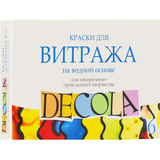 """Акриловые краски для витража """"Decola"""", 6 цветов (4241342)"""