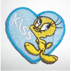 Термоаппликация Голубое сердце