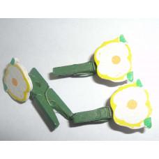 Мини-прищепка декоративная, Цветочек (27536)