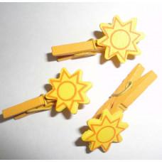 Мини-прищепка декоративная, Солнышко (27536)