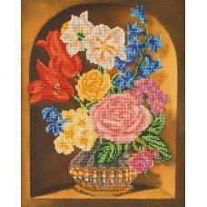 Набор для вышивания бисером Букет в вазе (В-201)
