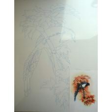 Холст на картоне с эскизом Птица (283401)