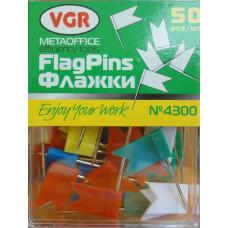 Булавки декоративные Разноцветные флажки (4300)