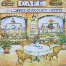 Салфетка Городское кафе (маленькая)(1247)