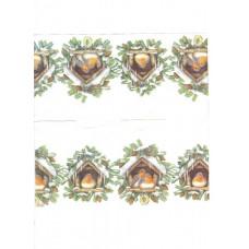 Салфетка-платочек Снегири в домиках (1250)