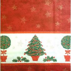Салфетка Новогодние деревья (1272)