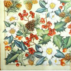 Салфетка Зимняя флора (1274)