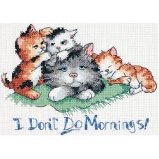 Набор для вышивания крестом Dimensions Не люблю утро! (65043)