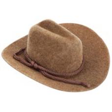 Бархатная ковбойская шляпка, коричневая 3,18 см (12732-250)