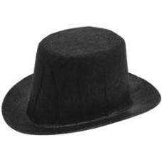 Шляпка фетровая, черная 9,5 см (12791)