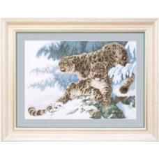 Барсы на снегу (М-025)