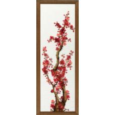 Набор для вышивания крестиком Чарівна мить Красная сакура (М-93)