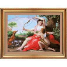 Набор для вышивания крестиком Чарівна мить Диана и Купидон (По мотивам У.Бурго)(М-14)