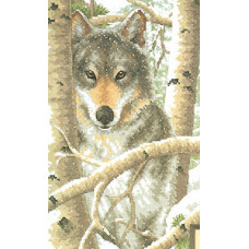 Набор для вышивания крестом Dimensions Зимний волк (03228)