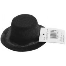 Шляпа черная, 7,6 см.(12761)